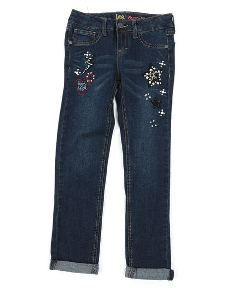 Lee - Aniimal Patch Convertible Skinny Jeans (7-14)