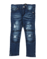 Sizes 2T-4T - Toddler - Washed Rip & Repair Moto Stretch Denim Jeans (2T-4T)-2378455