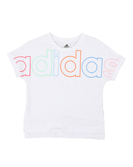 Adidas - Cropped Exploded Outline Linear Tee (7-16)
