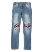 Girls - Cat Face Skinny Jeans (7-14)-2378437