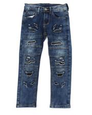 Sizes 4-7x - Kids - Washed Rip & Repair Moto Stretch Denim Jeans (4-7)-2378468
