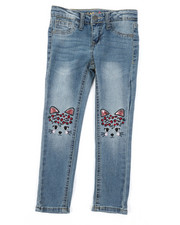 Girls - Cat Face Skinny Jeans (4-6X)-2378157