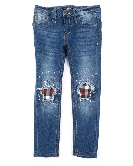 Lee - Plaid Star Knees Skinny Jeans (4-6X)