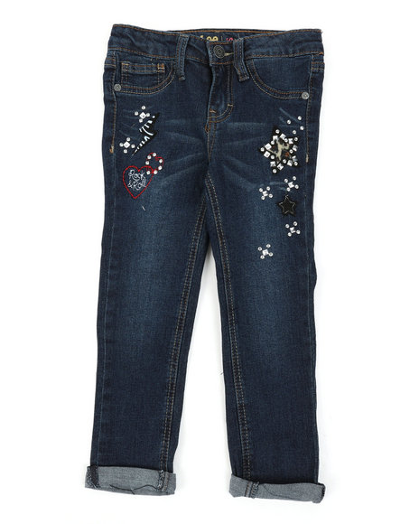 Lee - Animal Patch Convertible Skinny Jeans (4-6X)