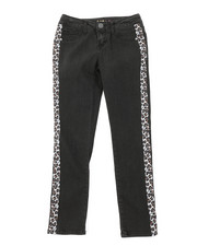Girls - Leopard Tape Skinny Jeans (7-14)-2378431
