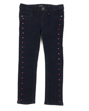 Bottoms - Heart Studs Skinny Jeans (4-6X)-2378162