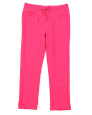 Girls - French Terry Knit Waist Skinny Pants (4-6X)-2378620