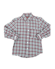 Tops - Yarn Dyed Plaid Woven Shirt (8-18)-2378625