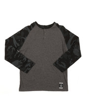 Tops - Long Sleeve Camo Raglan Henley (8-18)-2378564