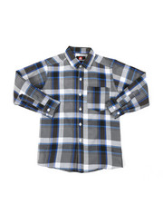 Tops - Yarn Dyed Plaid Woven Shirt (8-18)-2378511