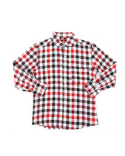 Tops - Yarn Dyed Plaid Woven Shirt (8-18)-2378615