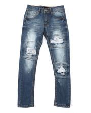 Bottoms - Basic Denim Jeans w/ Rip & Repair Detail (8-20)-2379240