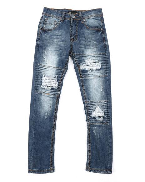 Arcade Styles - Basic Denim Jeans w/ Rip & Repair Detail (8-20)