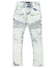 Boys - Pleated Knee Moto Jeans (8-20)-2379277