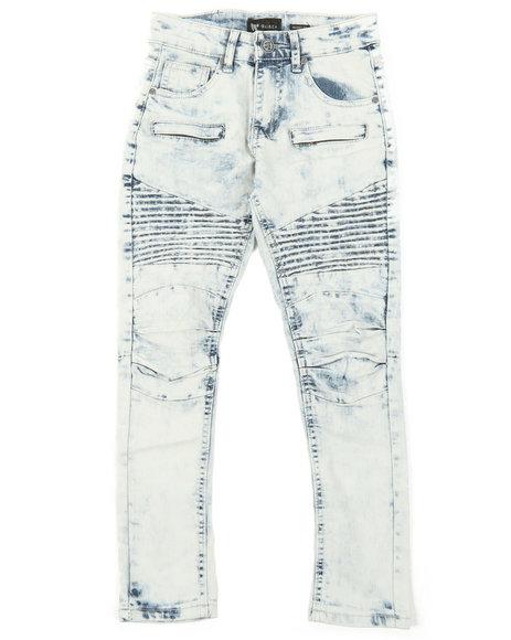 Arcade Styles - Pleated Knee Moto Jeans (8-20)
