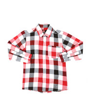 Tops - Yarn Dyed Plaid Woven Shirt (8-18)-2378501