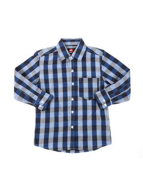 Arcade Styles - Yarn Dyed Plaid Woven Shirt (8-18)