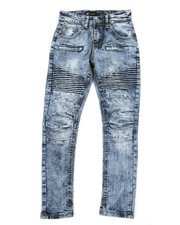 Bottoms - Pleated Knee Moto Jeans (8-20)-2379269