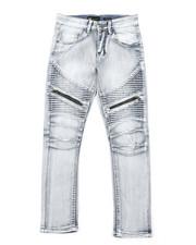 Boys - Moto Jeans W/ Zipper Detail (8-20)-2379561