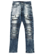 Bottoms - Moto Twill Jeans W/ Front Pockets (8-20)-2379577