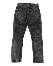 Boys - Moto Jeans W/ Zipper Detail (8-20)-2379585