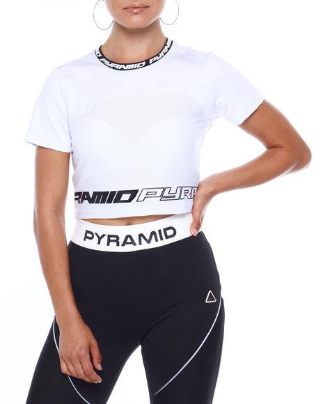 Black Pyramid - Matrix Logo Crop Top