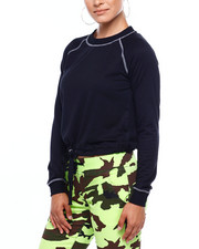 Sweatshirts - Fleece Pullover W/Contrast Stitch & DCord Hem-2379750
