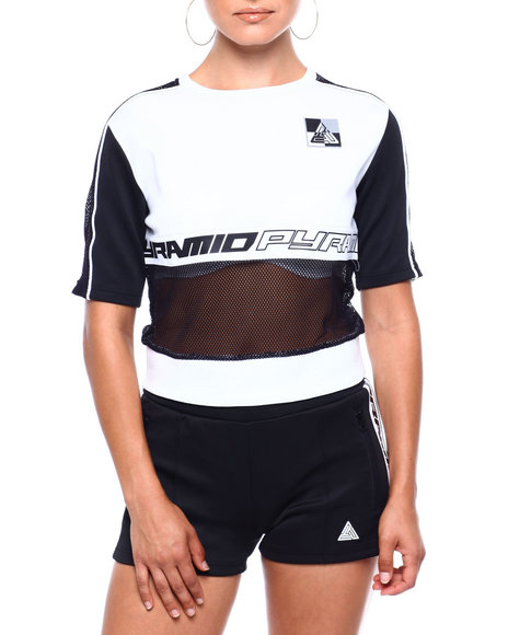Black Pyramid - Matrix Mixed Fabric Taped Shirt