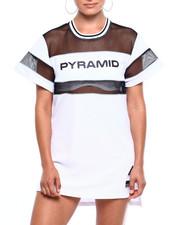 Black Pyramid - USA Reflective Mesh Dress-2379769