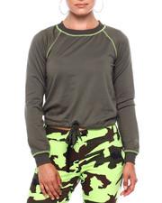 Sweatshirts - Fleece Pullover W/Contrast Stitch & DCord Hem-2379731