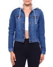 Outerwear - Denim Trucker Jacket W/Removable Hood-2379066