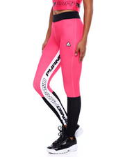 Black Pyramid - Mixed Fabric Taped Leggings-2377556