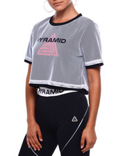 Black Pyramid - Reflective Double Mesh Crop Top-2379797