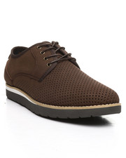 HAWKE & Co. - Jasper Perforated Lace-Up Derby Shoes-2380178