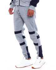 Men - Colorblock Moto Fleece Pant w Contrat Piping-2380041