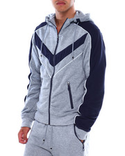 Men - Colorblock Moto Zip Hoodie-2380061