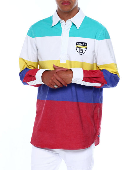 Chaps - Bold Color Stripe Rugby