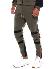Men - Colorblock Moto Fleece Pant w Contrat Piping-2380031