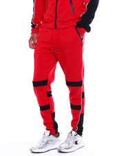 Men - Colorblock Moto Fleece Pant w Contrat Piping-2380036