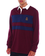 Chaps - CREST W CHEST STRIPE LS RUGBY-2380135