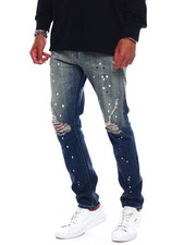 Men - Vintage Paint Splatter Ripped Jean-2379695