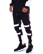 Men - Colorblock Moto Fleece Pant w Contrat Piping-2380026