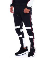 Jeans & Pants - Colorblock Moto Fleece Pant w Contrat Piping-2380026