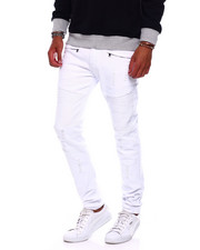 Jeans & Pants - Distressed Moto Twill Pant-2379457