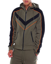 Men - Colorblock Moto Zip Hoodie-2380056
