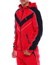 Men - Colorblock Moto Zip Hoodie-2380081