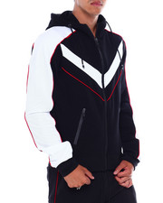 Men - Colorblock Moto Zip Hoodie-2380076