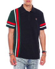 Men - Colorblock polo w cut and sew panels-2380152