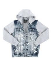 Outerwear - Hooded Denim Jacket (8-20)-2379851