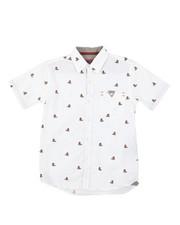 Sizes 4-7x - Kids - Tennis Teddy Bear All Over Print Woven Shirt (4-7)-2380299